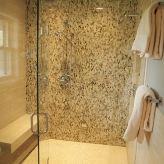 Mid-century modern renovation - Bathroom - La Crosse, WI