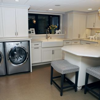 Mid-century modern renovation - Laundry room - La Crosse, WI