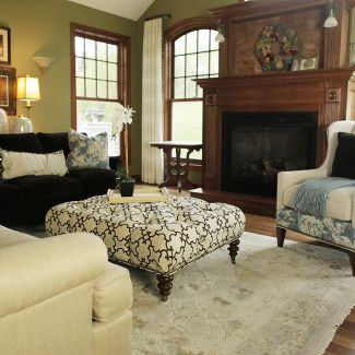 Transitional design - Living room - La Crosse, WI